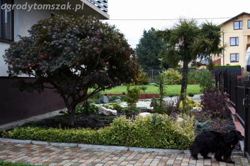ogrod Bielsko Biala Mazancowice wejscie do domu rabata przed domem IMG 1084
