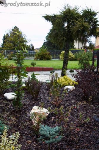 ogrod Bielsko Biala Mazancowice wejscie do domu rabata przed domem IMG 1086