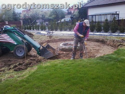 ogrod bielsko-biala trawnik palenisko plac0018