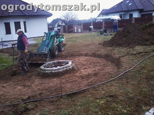 ogrod bielsko-biala trawnik palenisko plac0019