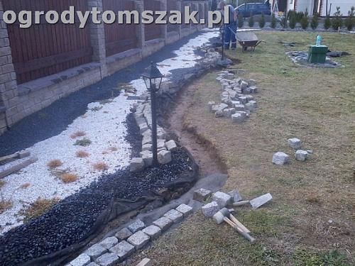 ogrod bielsko-biala trawnik palenisko plac0022