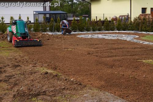 ogrod bielsko-biala trawnik palenisko placIMG 4596