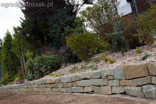ogrod buczkowice piaskowiec z brennej brenski skarpy mur09