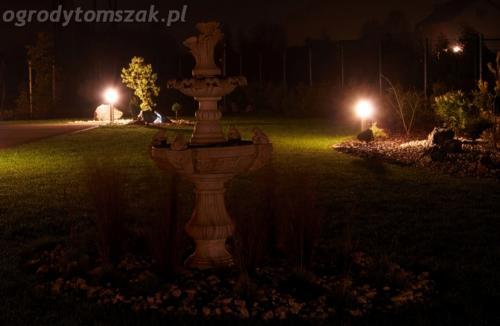 ogrod mazancowice oswietlenie noca 2010 14