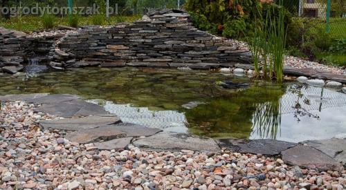 ogrod pewel zywiec lodygowice rybarzowice skarpa trawy metaloplastyka kaskada oczko wodne andezyt donica kamienna 12