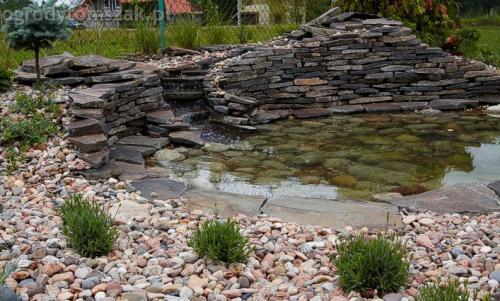 ogrod pewel zywiec lodygowice rybarzowice skarpa trawy metaloplastyka kaskada oczko wodne andezyt donica kamienna 13