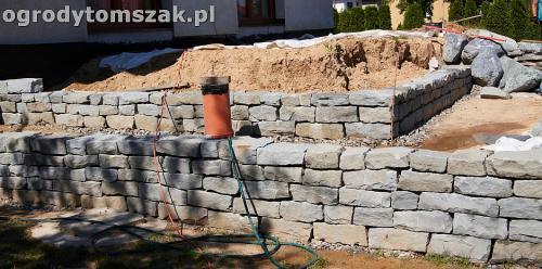 ogrod taras ziemny skalniak schody IMG 5217