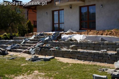 ogrod taras ziemny skalniak schody IMG 5222