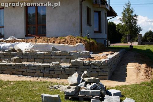 ogrod taras ziemny skalniak schody IMG 5223