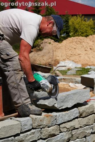 ogrod taras ziemny skalniak schody IMG 5226