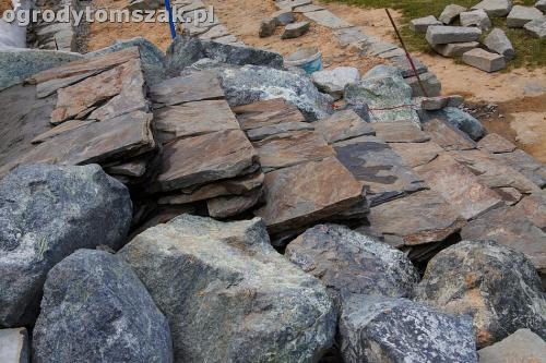 ogrod taras ziemny skalniak schody IMG 5234