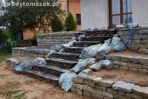 ogrod taras ziemny skalniak schody IMG 5294
