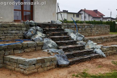 ogrod taras ziemny skalniak schody IMG 5309