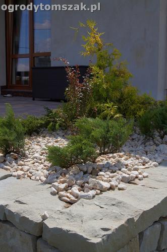 ogrod taras ziemny skalniak schody IMG 5489