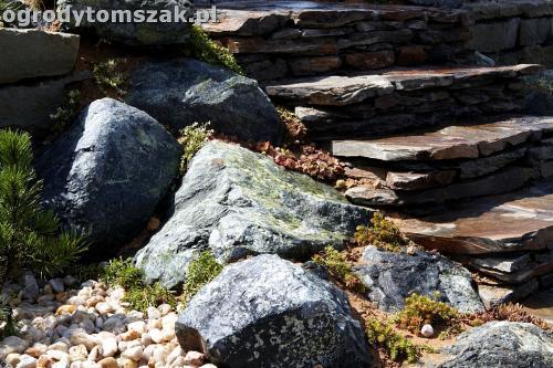 ogrod taras ziemny skalniak schody IMG 5497
