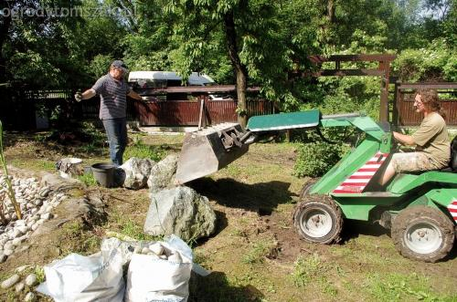 ogrodytomszak Bielsko Biala Mikuszowice oczko wodne kamien naturalny avant formowanie terenu 02
