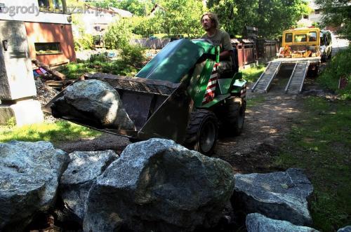 ogrodytomszak Bielsko Biala Mikuszowice oczko wodne kamien naturalny avant formowanie terenu 06
