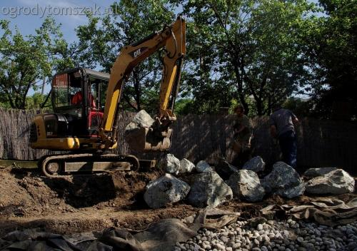 ogrodytomszak Bielsko Biala Mikuszowice oczko wodne kamien naturalny avant formowanie terenu 11