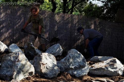 ogrodytomszak Bielsko Biala Mikuszowice oczko wodne kamien naturalny avant formowanie terenu 12
