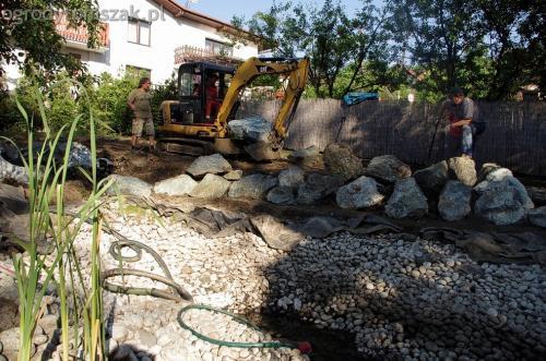 ogrodytomszak Bielsko Biala Mikuszowice oczko wodne kamien naturalny avant formowanie terenu 14