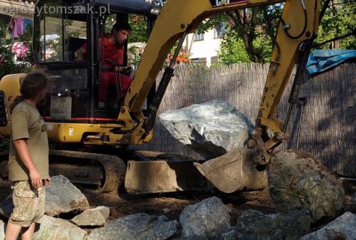 ogrodytomszak Bielsko Biala Mikuszowice oczko wodne kamien naturalny avant formowanie terenu 15
