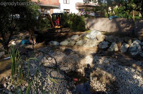 ogrodytomszak Bielsko Biala Mikuszowice oczko wodne kamien naturalny avant formowanie terenu 16