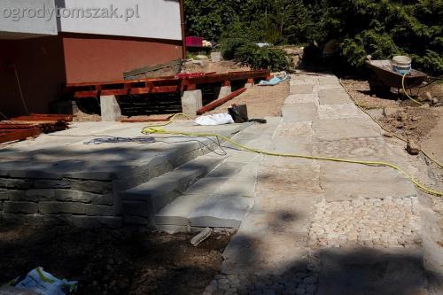 ogrodytomszak Bielsko Biala Mikuszowice oczko wodne kamien naturalny avant formowanie terenu 26
