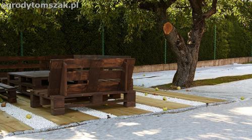 podest taras podkałady kolejowe drewno podkłady eko IMG 7705