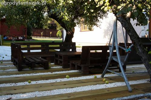 podest taras podkałady kolejowe drewno podkłady eko IMG 7710