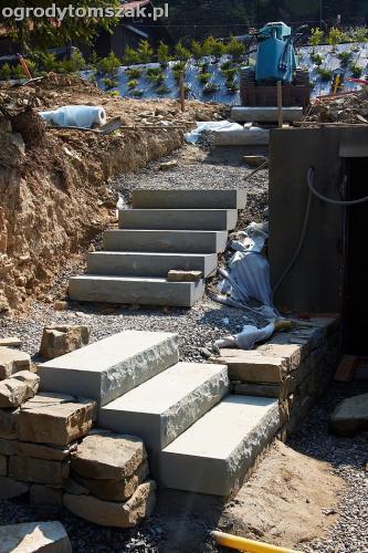 wilkowice mikuszowice lodygowice bystra ogrod murki piaskowiec trawnik schody piwniczka formowanie terenu skarpy IMG 7664